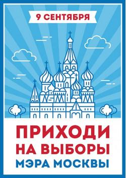 Плакат на выборы мэра Москвы ПЛ-13