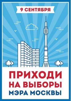 Плакат на выборы мэра Москвы ПЛ-14