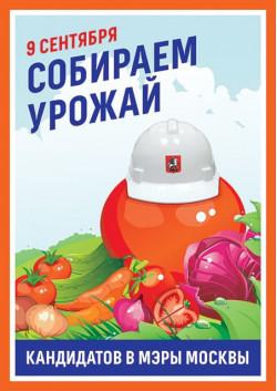 Плакат на выборы мэра Москвы ПЛ-21