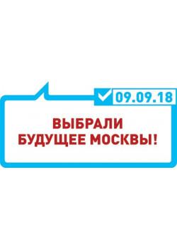 Табличка на выборы мэра Москвы ТБ-7