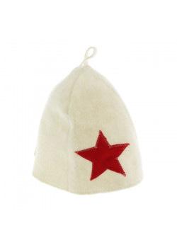 Шапка для бани и сауны «Звезда», фетр, белая