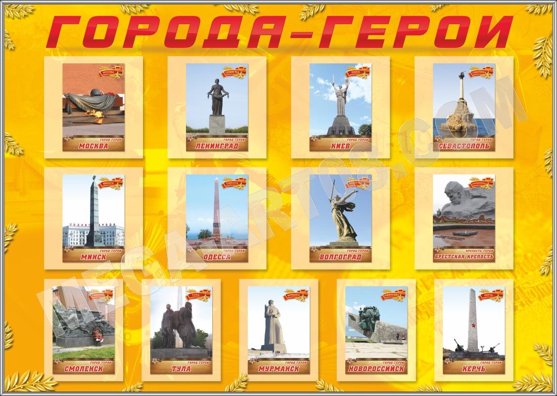 Все города герои в картинках